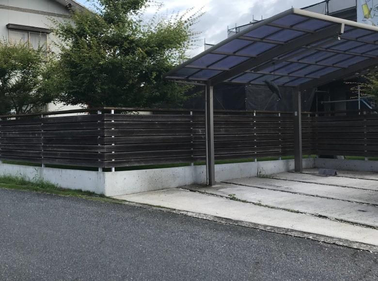岩国Y様邸フェンス塗り替え前、ビフォー写真