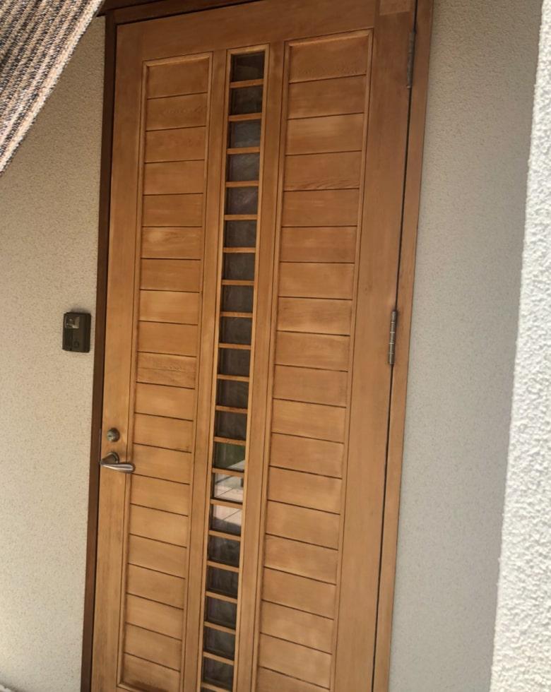 玄関ドア研磨完了写真