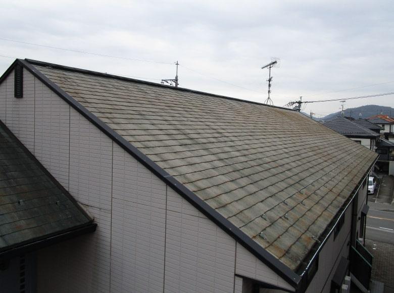 下松市アパート屋根塗装ビフォー写真