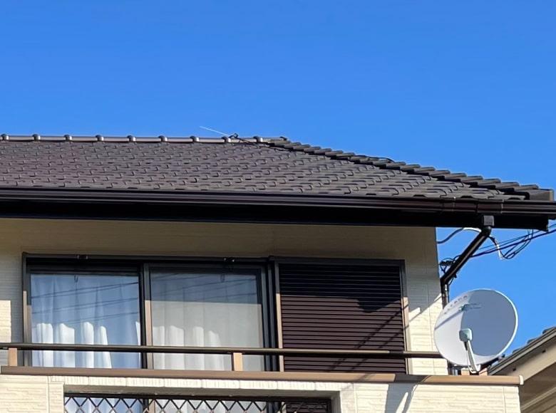 大竹市N様邸、屋根の葺き替え工事完了写真
