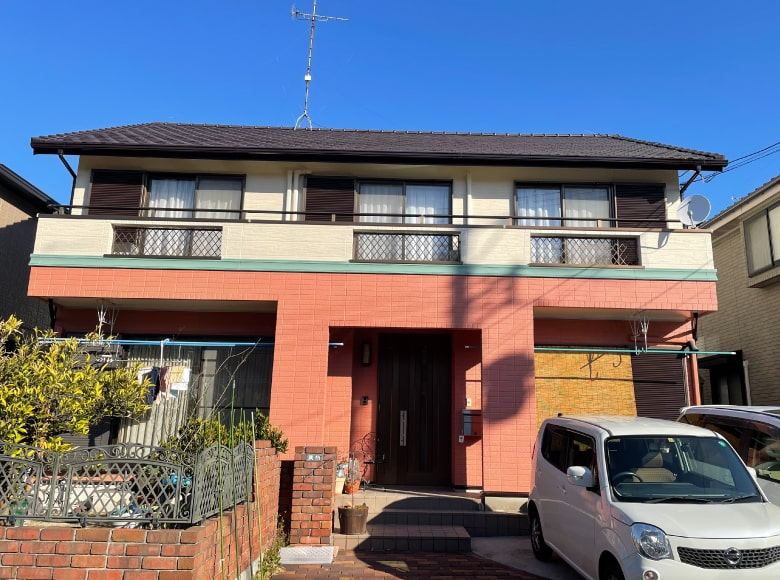 大竹市N様邸、外壁塗装および屋根葺き替え工事完成写真