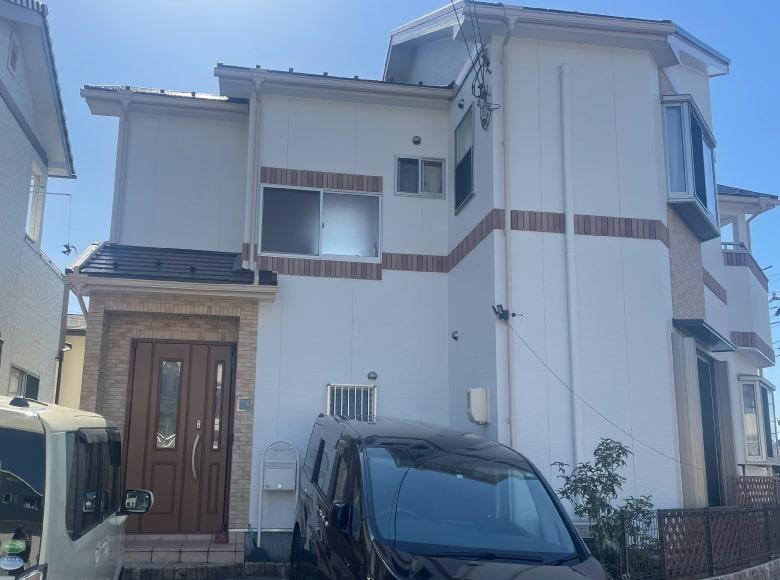 光市Y様邸、屋根・外壁塗り替え工事(正面・アフター)