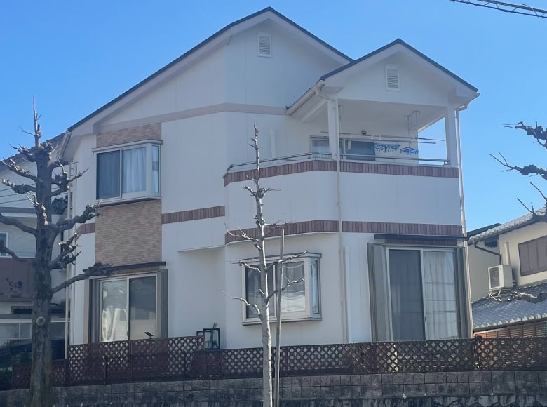 光市Y様邸、屋根・外壁塗り替え工事(裏・アフター)
