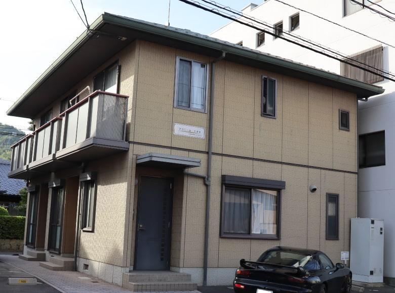広島市アパート外壁塗り替えビフォー