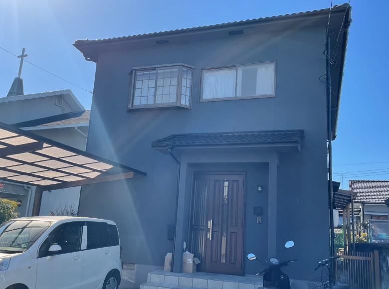 広島市I様邸、築40年塗り替え工事完了写真その1