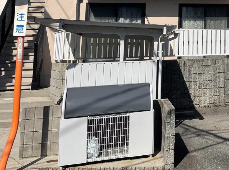 岩国市アパート外壁塗装(駐輪場・ゴミ箱)アフター