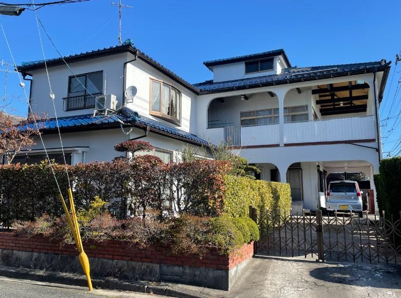 下松市D様邸、外壁塗り替え完了写真(正面)